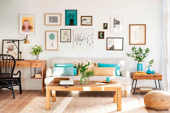 5 ideas para vestir la pared del sofá